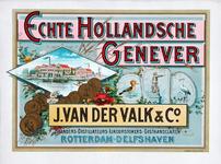 XI-0000-0137 Echte Hollandsche Genever J. van der Valk & Co. Branders-Distillateurs-Likeurstokers-Gisthandelaren ...