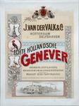 XI-0000-0145 J. van der Valk & Co. Rotterdam Delfshaven. Echte Hollandsche Genever. Branders, distillateurs Brandewijn ...