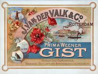 XI-0000-0146 J. van der Valk Rotterdam Delfshaven. Gevestigd Ao 1855 Prima Weener Gist.