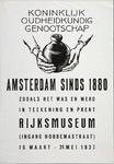 XIX-1966-0329 Koninklijk Oudheidkundig Genootschap. Amsterdam sinds 1880 zooals het was en werd in teekening en prent. ...