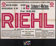 AF-10383 Boymans museum Rotterdam Schubert Matinée Prof. Isolde Riehl de beroemde Weensche alt-zangeres aan den ...