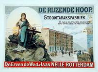 2002-629 Reclame van stoomtabaksfabriek De Rijzende Hoop van de firma Van Nelle aan de Schiedamsedijk.
