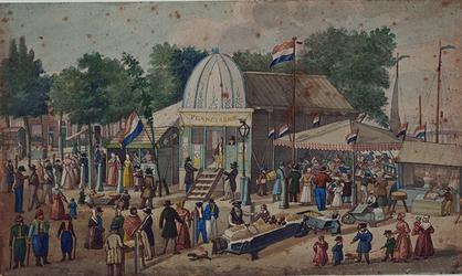 1968-12 Zomer 1842Kermis op het Hofplein