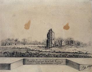 1968-1333 Ruïne van het Kasteel te Oostvoorne anno 1705.