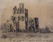 1968-1335 De ruïne van het Kasteel of Huis te Spangen in 1576.