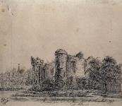 1968-1336 De ruïne van het Slot Ravenstein in Heenvliet anno 1794.