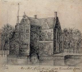 1968-1337 Het Slot Rouwkoop onder Voorschoten anno 1720.