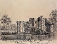 1968-1338 Ruïne van het Slot Honingen in Kralingen, 1710.