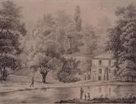 1968-15 Het Park, rechts het herenhuis de Heuvel, van de westzijde gezien.