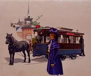 1968-647 Gezicht op een paardetram, genummerd 13.
