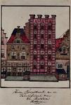 1969-39 Gezicht op de huizen aan de Hoogstraat.