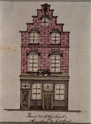 1969-43 Huis de Oliphant , Hoogstraat, bij het Spui.