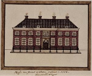 1969-60 Hofje van Gerrit de Koker, gesticht in 1786, Goudschen Singel.