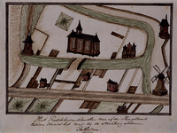 1969-65 Het Predikheerenklooster gezien vanaf de Hoogstraat