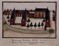 1969-66 De achterkant van het Predikheerenklooster aan de Hoogstraat.