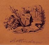 1970-1440 Wapens van Rotterdam en Weena.afgebeeld met enige entouragel