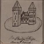 1970-1441 Kasteel Bulgersteyn, afgebeeld met 2 torens.Onderschrift: Bulgersteyn Roode Zand.