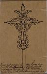 1970-1443 Kruis van de St. Laurentiuskerk.Afbeelding van het kruis met onderschrift: Kruis dat vroeger op den toren der ...