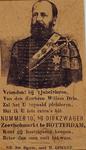 1970-1563 21 mei 1874Sigarenzakje Dirkzwager met portret van Koning Willem III en vers, ter gelegenheid van diens ...