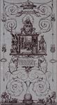 1970-1616 Zinneprent naar aanleiding van de gevangenschap van Hugo de Groot.Hogebeets, met zesregelig vers en ...