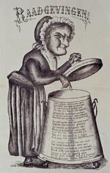 1970-1706 1875Spotprent op onenigheid in sociëteit de Harmonie.
