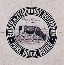 1970-1881 Reclamedrukwerk met een grazende koe.