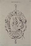 1971-2054 Schild aan hanger. Op het schild een vrouwenfiguur met de letters C en K. Anno 1669. Namen hoofdlieden.