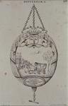 1971-2056 Schild aan hanger. Op het schild een huifkar in een Dorpsstraat. Onder namen van hoofdlieden. 1788.