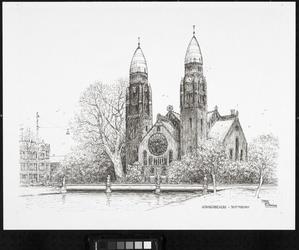 1971-2572 Gezicht op de Boezem met de Koninginnekerk, gezien vanaf de Vredenoordkade, uit het zuidoosten.