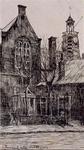 1972-153 Achterwater vanuit het noordoosten gezien met op de achtergrond de toren van de Ned. Herv. Kerk aan de ...
