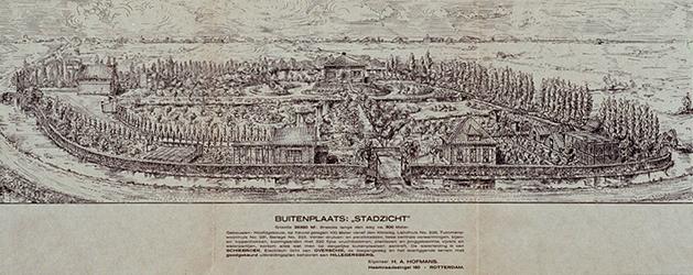 1972-1811 26 februari 1931Afbeelding van het stadzicht aan de Kleiweg met bijbehorende gedrukte protestbrief van de ...