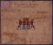 1972-1826 Bevestiging van het besluit van de Hoge Raad van adelop 20-2-1816 tot het verlenen van een wapen aan de stad ...