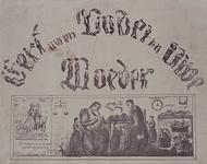 1972-1862 Kinderprent met tekst uitgebeeld in poppetjes in diverse houdingen.