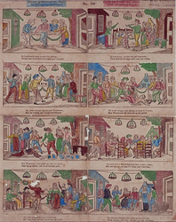 1972-1868 Kinderprent: Bruiloft van Kloris en Roosje.