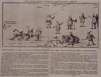 1972-1877 December 1780Spotprent op de oorlogsverklaring van Engeland aan de Republiek der Zeven Provinciën (Vierde ...