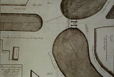 1973-4001 Plattegrond van een geprojecteerde Delftse Poort.
