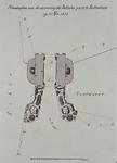 1973-4049 21 mei 1874Situatieplan van de versiering van de Delftse Poort.