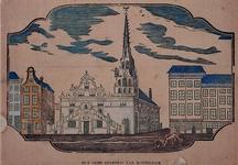 1973-4189 Gevels aan de noordzijde van de Hoogstraat, in het midden het Stadhuis .