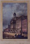 1973-4193 Gevels aan de zuidzijde van de Kaasmarkt met in het midden het Stadhuis, links daarvan de Kipstraat.