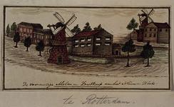 1973-4203 De voormalige molens en zoutkeet aan het Nieuwe Werk.