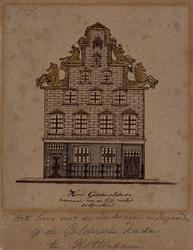 1973-4229 Het huis met de Zeekoeijen en Zeepaarden op de Geldersche kade te Rotterdam.