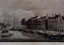1973-4230 Gezigt van de Gelderse-kaaij van het midden der Draaijbrug af te zien te Rotterdam. Uit noordelijke richting. ...