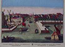 1973-4261 Gezicht op de Maas in het midden Leuvehaven, met links twee molens aan de toegang tot de Zalmhaven en rechts ...