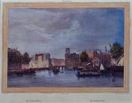 1973-4273 Gezicht op de Oudehaven, uit het zuidoosten. Met in het midden de Kleine Draaibrug en rechts Spaansekade en ...