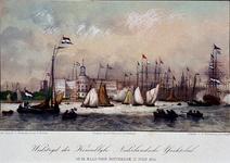 1973-4296 12 juli 1854Roeiwedstrijd van de Kon. Ned. Yachtclub, op de Maas.
