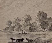 1973-4304 Het onderschrift is : De Kleiweg 1763, hiermee zou de Oude Plantage bedoeld kunnen worden.