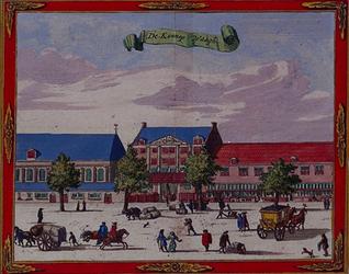 1973-4332 Gezicht op het Boterhuis met de hennepwaag aan de Nieuwemarkt en de Prinsenkerk (links).