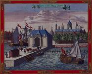 1973-4335 Gezicht op de Wester Hoofdpoort, rechts de Boompjes en links de Leuvehaven.