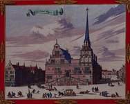 1973-4342 Gezicht op het stadhuis aan de Hoogstraat.