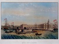1973-4403 `QUAI GUILLAUME'. Veerhaven, Veerkade en Willemskade met rechts het gebouw van de Koninklijke Nederlandse ...